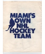 1991 Miami NHL Hockey Ticket Application Brochure Florida Panthers - $99.00