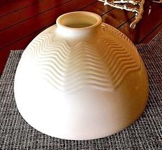 CORNING VTG Milk White Glass Molded Design Hanging Art Deco Howe Lamp Sh... - $44.50