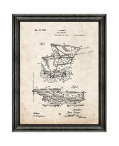 Baby Carriage Patent Print Old Look with Black Wood Frame - $24.95+