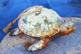 POTTERY BARN GLASS TURTLE ORNAMENT – NIB – A REAL SLOW BUT STEADY HOLIDA... - $24.95