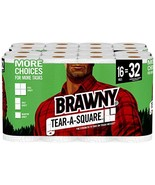 Brawny Tear-A-Square Paper Towels, Quarter Size Sheets, 16 Count - $34.69