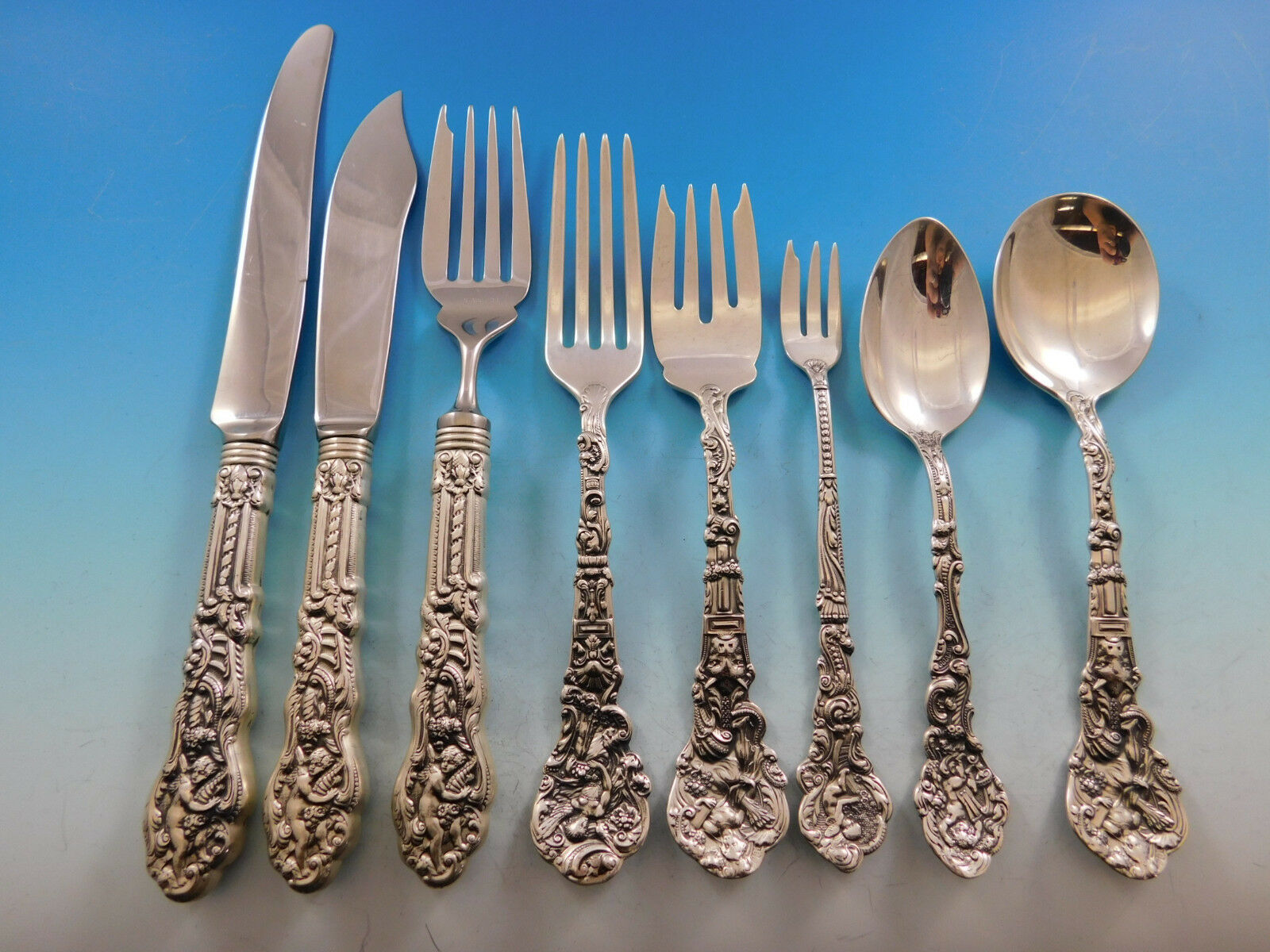 Primary image for Versailles by Gorham Sterling Silver Flatware Set 12 Service 103 pieces Mono D