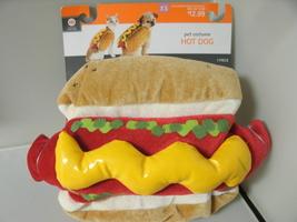 "HOT DOG Pet Costume - NEW - XSmall  1pc 12"" velcro Halloween - £8.45 GBP"