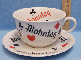 Large Cup and Saucer Cards Selmann Weiden Bavaria W Germany - $17.77