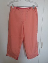 Gap Ladies 100% Polyester Cropped PANTS-8-WORN ONCE-FRONT Zipper w/CLOSURE-NICE - $9.99