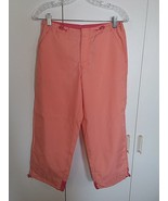 GAP LADIES 100% POLYESTER CROPPED PANTS-8-WORN ONCE-FRONT ZIPPER w/CLOSU... - $9.99