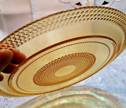 VINTAGE AMBER PLATE WITH HOBNAIL DESIGN - 2 SIZES TO CHOOSE FROM image 4