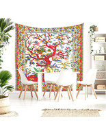 Queen Size Tree Of Life Pure Cotton Large Bed Cover Bed Sheet Wall Hangi... - $24.98
