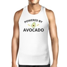 Powered By Avocado Men's White Tank Top Gift For For Avocado Lovers - $14.99+