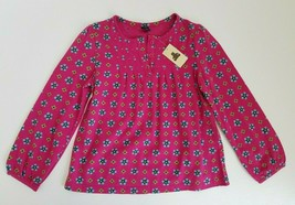 GapKids Girls Top Long Sleeved Floral Pink Size 5 years NWT - $15.99