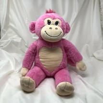 "Build A Bear Pink Monkey Heart 18"" Soft Toy Stuffed Animal Chimp BABW Ape - $17.77"