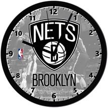 "Brooklyn Nets LOGO Homemade 8"" NBA Wall Clock w/ Battery Included - $23.97"