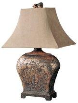 Uttermost 27084 Xander Lamp 17.75 x 12 x 27, Silver Leaf, Atlantis Bronze. - $202.40