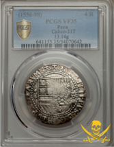Peru 1556-98 4 Reales Pcgs 35 Shipwreck Treasure Cob Silver Coin Pirate - $1,495.00