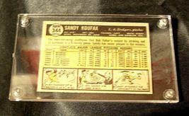 Sandy Koufax Baseball Trading Card # 344 AA19-BTC4005 Vintage Collectible image 4