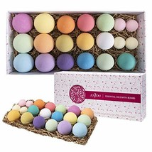 Anjou 20 Pack of Bath Bombs Gift Set, Natural Essential Oils Lush Spa Ba... - $21.96