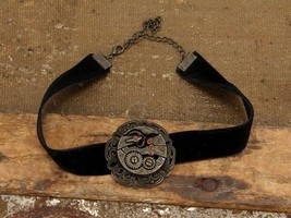 SteamPunk Cosplay Victorian Black Velvet Gears Choker, NEW UNUSED - $9.74