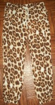 Justice Girls Pants Size 10 Tan Brown Animal Rayon Print Lounge School C... - $17.81