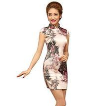 PANDA SUPERSTORE Fashion Chinese Style Cheongsam Elegant Retro Cheongsam C (Larg