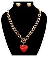 Heart Toggle Necklace Set - $17.25