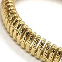 SOLID 18K YELLOW GOLD ELASTIC BRACELET BIG WAVE 11 MM, FINELY WORKED SEMI RIGID image 3