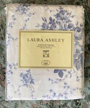 "New Laura Ashley Sophia Floral Drapes Panels Rod Pocket Blue White 82"" X 84"" - $127.71"