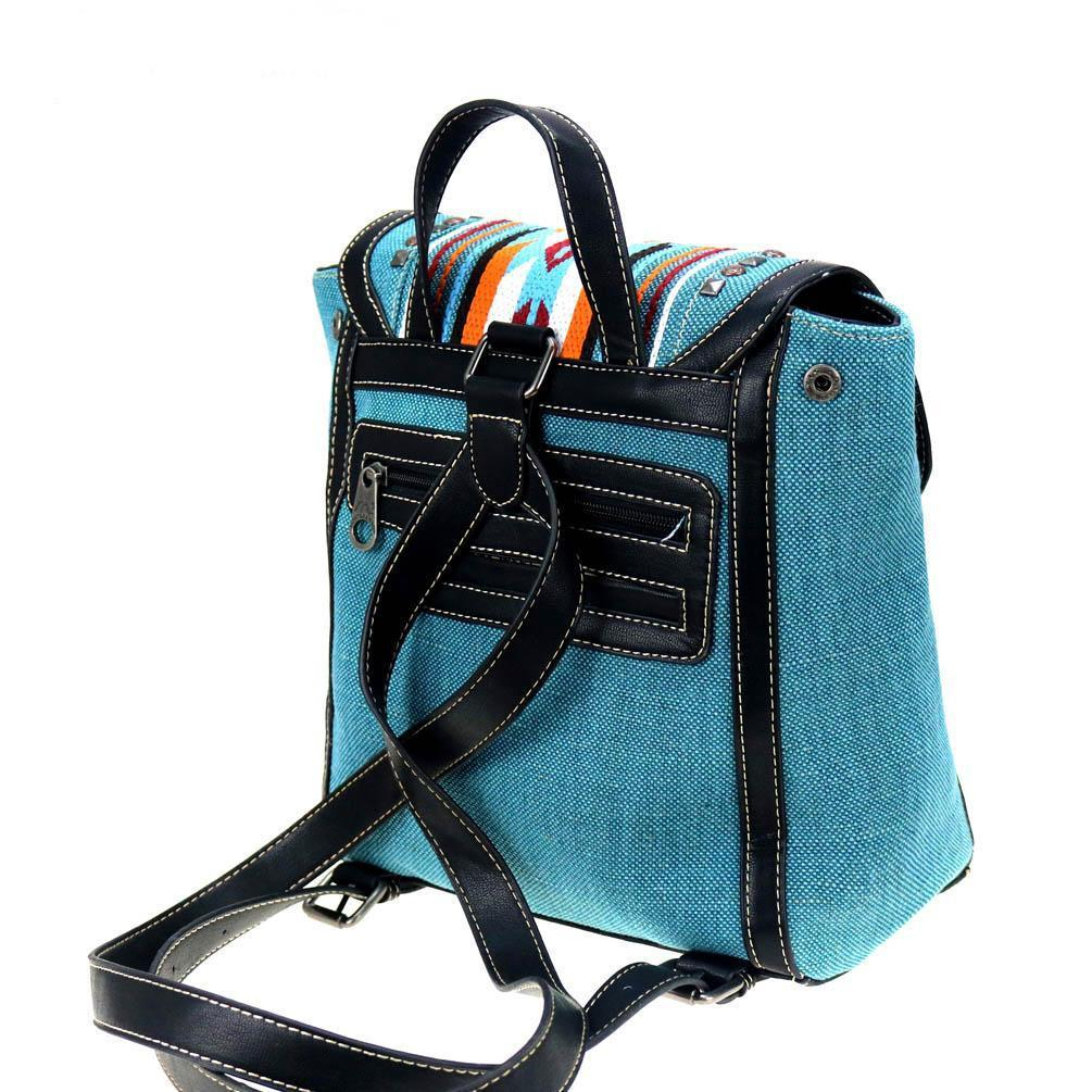 NWT Montana West Aztec Turquoise Backpack image 4