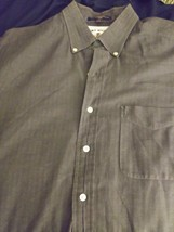 Tommy Hilfiger Long Sleeve Button Up Big Patch Mens Xl Embroidery Dress ... - $16.20