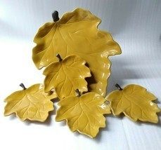 Chris Madden Jcp Home Harvest Leaf Shaped 5 Piece Rare Autumn Collection... - £64.78 GBP