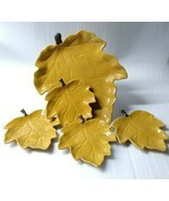 Chris Madden Jcp Home Harvest Leaf Shaped 5 Piece Rare Autumn Collection... - $89.09