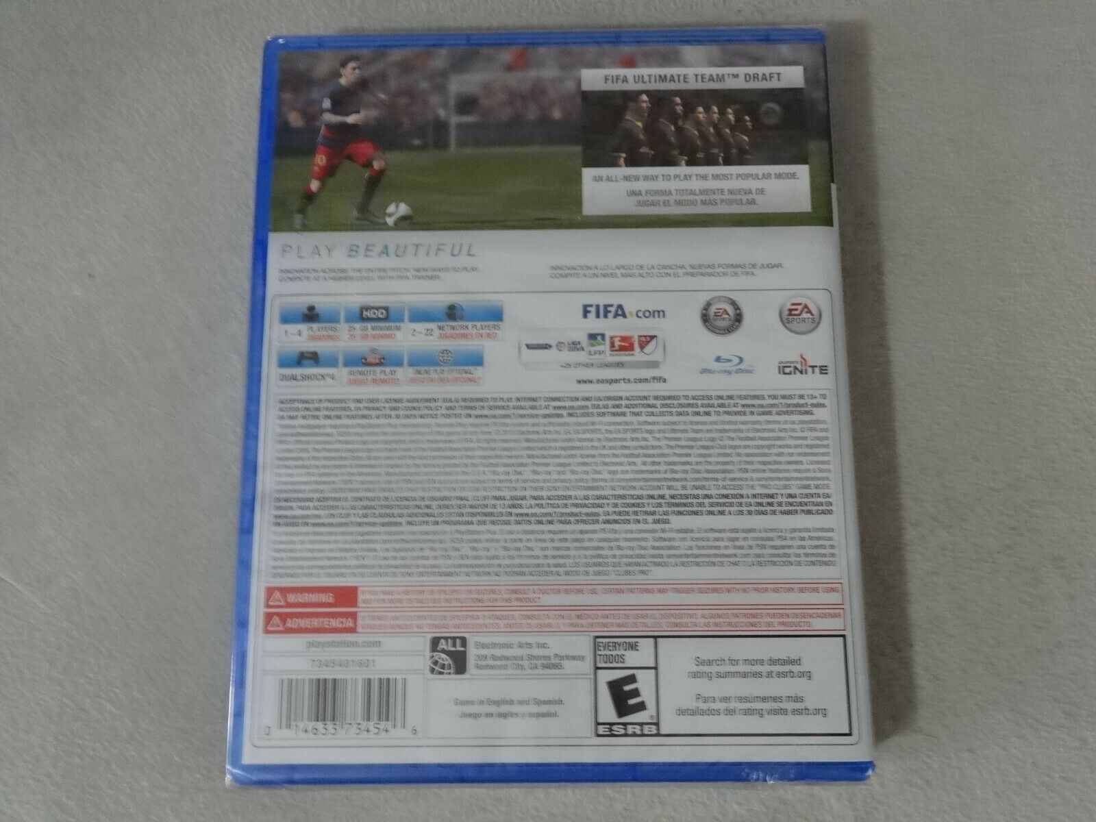 NIP EA Sports FIFA 16 Sony Playstation 4 PS4 Game New Sealed Free Ship