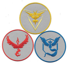 Pokemon Go Game Team Instinct Mystic and Valor Logos Embroidered Patch S... - $13.54