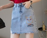 Ini denim skirt 2019 summer wild new large size high waist slim fit a line student thumb155 crop