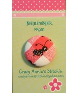Black Ant Spotted Needleminder fabric cross stitch needle accessory - $7.00