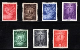 1947 Angels and Doves Set of 7 Vatican Airmail Stamps Catalog Number C9-15 MNH