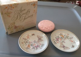 AVON 1979 BUTTERFLY FANTASY TWO  DISHES & ONE  SOAP NIB - $14.01