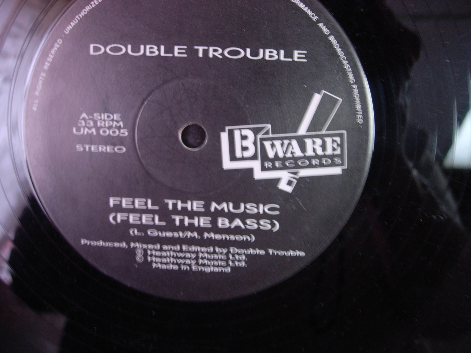 Double Trouble - Feed the Music - B Ware Records UM-005