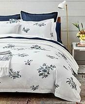 Ralph Lauren Blanc Bleu Collection Fallon Sateen King Size  Duvet Cover,... - $178.19