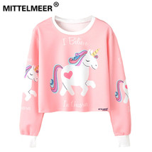 MITTELMEER 2018 bts Harajuku Sweatshirt Woman girls crop top Cartoon uni... - $18.00
