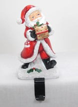 "6"" Tall Santa Claus with Package Christmas Stocking Holder Hanger Shelf Sitter - $19.75"
