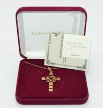 Camrose and Kross Jacqueline Kennedy JBK Ruby Red Rhinestone Cross Cruci... - $89.09