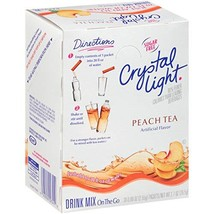 Crystal Light Peach Tea Drink Mix 120 Packets, 4 Boxes of 30 - $45.34