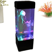 Jellyfish Lamp Aquarium LED Relaxing Desk Lamp Night Light Bedside Table... - £15.91 GBP