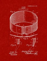 Bandage Patent Print - Burgundy Red - $7.95+