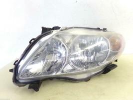 2009 2010 Toyota Corolla Lh Driver Headlight W/O Black Trim Sold As Is Oem D50L - $58.20