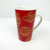 Starbucks 2015 Holiday Christmas Ornament Red Gold 14 oz Coffee Mug - $14.84