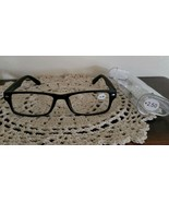 Black Plastic Framed ~ Spring Hinged ~ +2.50 Reading Glasses w/Clear Cas... - $16.50