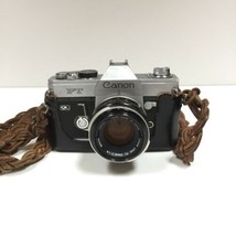 Vtg CANON FT QL 35mm Film SLR CAMERA w 50 mm 1:1.8 & 28 mm 1:2.8 Lenses - $98.01