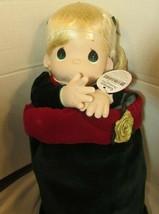 "Precious Moments 2001 christmas stocking GABRIELLE Doll 16"" blonde hair - $34.65"