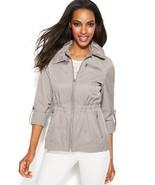 INC International Concepts Women's Taupe Tab-Sleeve Hooded Rain Coat Sz ... - $49.85